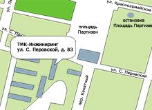 ТМК-Инжиниринг, 241011, г. Брянск ул. Софьи Перовской, д. 83. Схема проезда